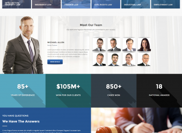 Lawyer One Demo Website